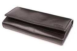 Wyrafinowany portfel damski w kolorze czarnym