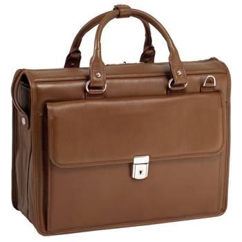 """15.6"""" Leather Litigator Laptop Brief Mcklein Gresham"""