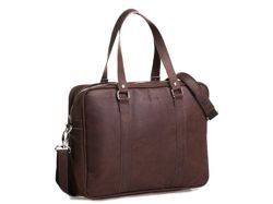 Brodrene Leather Bag Dark Brown