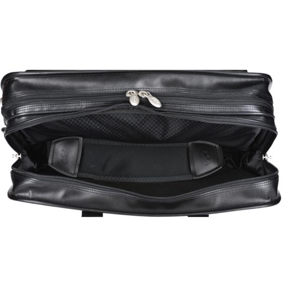 "15.6"" Leather Double Compartments Laptop Case Mcklein Hubbard"