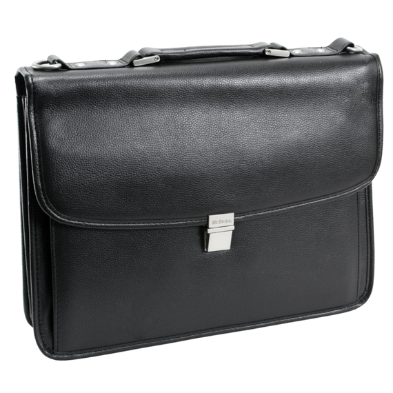 """17"""" Detachable-Wheeled Laptop Overnight with Removable Brief Mcklein Chicago"""