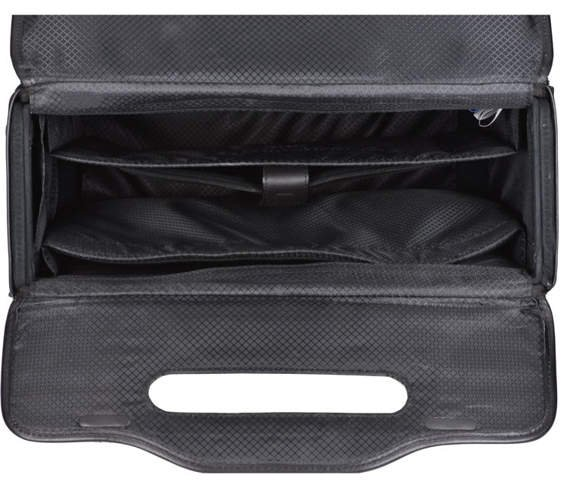 "17"" Leather Detachable-Wheeled Catalog Case Mcklein Sheridan"