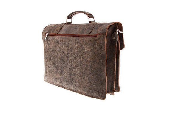 Casual leather satchel VOCC URBAN ATS 173