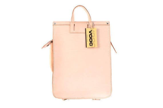 VERTICAL leather backpack/bag VOOC Vintage P15