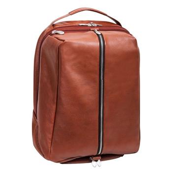 """Brązowy plecak South Shore ze skóry naturalnej na laptopa 17"""""""