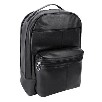 b4e974007b294 Czarny plecak Parker ze skóry naturalnej na laptopa