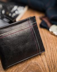 Czarny poręczny portfel męski skórzany Always Wild® N015-VTK-D BL