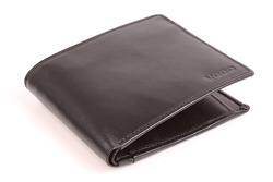 Prostokątny portfel skórzany męski VOOC PPM3, kolor czarny