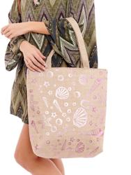 Przepiękna materiałowa torebka damska shopper bag A4