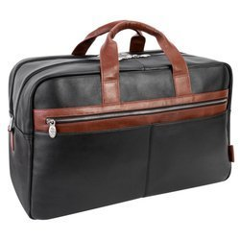 """Skórzana Biznesowa męska torba na laptopa Wellington 21"""" kolor czarno brązowy"""