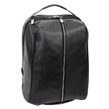 """Skórzany Czarny plecak podróżny South Shore ze skóry naturalnej na laptopa 17"""""""