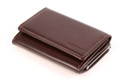 Stylowy damski portfel skórzany w kolorze brązowym