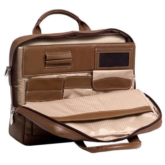 """Aktówka na laptopa Montclare 13,3"""" brązowa"""