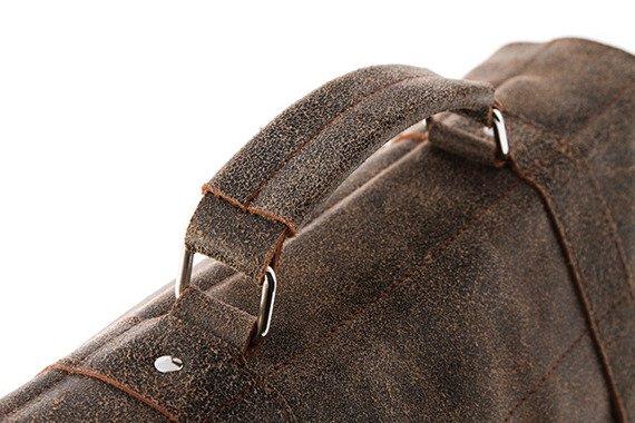 Casualowa torba ze skóry URBAN ATS173 szara