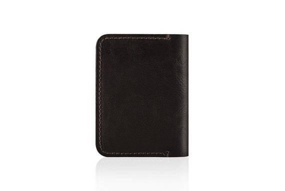 Cienki skórzany męski portfel SOLIER SW11 SLIM BRĄZ