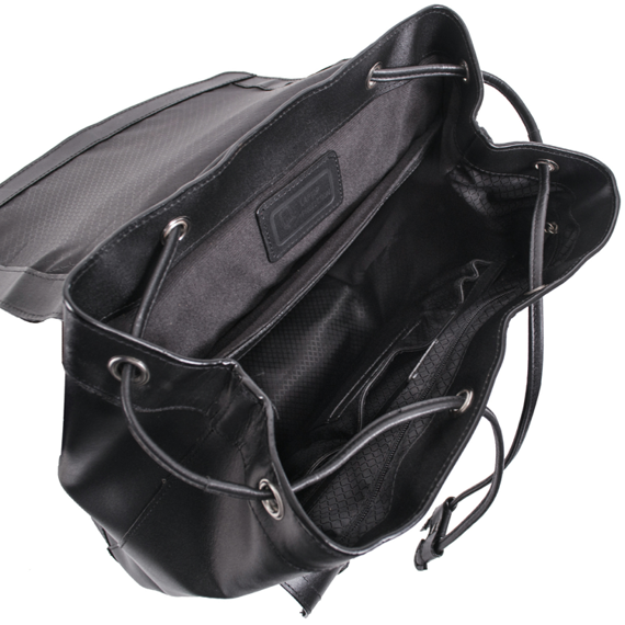 "Ekskluzywny skórzany plecak męski na laptopa 15,6"" Hagen Czarny"