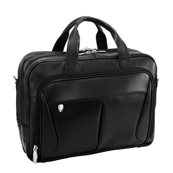 """Męska torba skórzana na laptopa Pearson, czarna 15,6"""""""