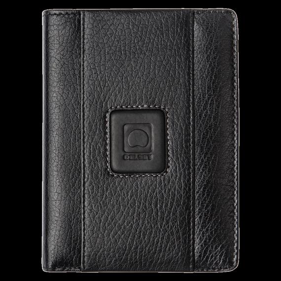 Męski czarny portfel Delsey Palmares wykonany z naturalnej skóry
