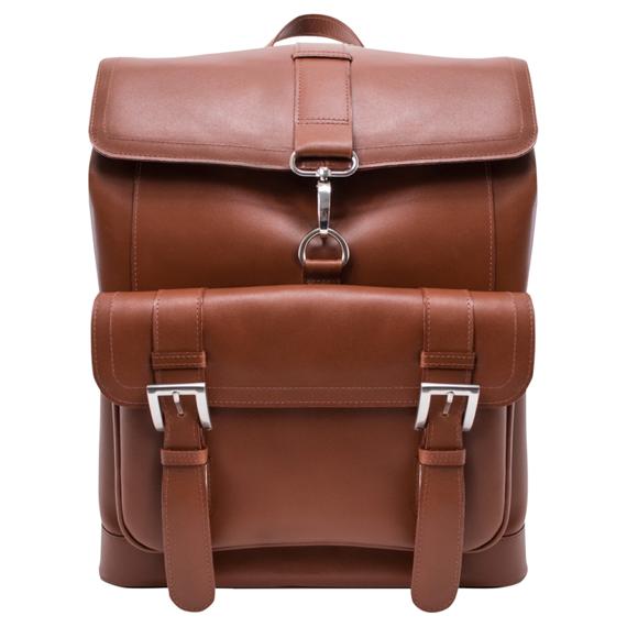 """Miejski skórzany plecak na laptopa 15,6"""" brązowy Hagen"""