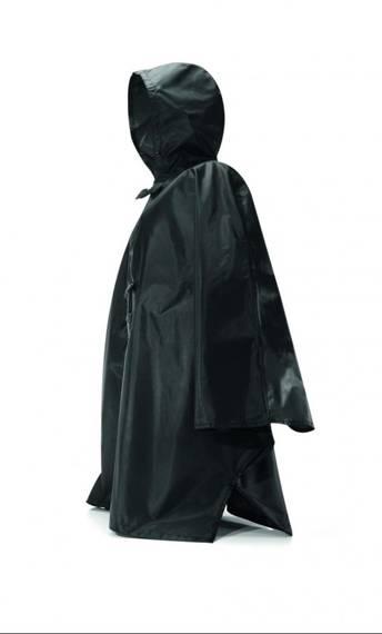 Peleryna przeciwdeszczowa poncho czarna Mini Maxi Reisenthel