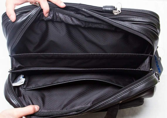 "Skórzana Torba na laptopa West Loop, kolor czarny 15,6"""