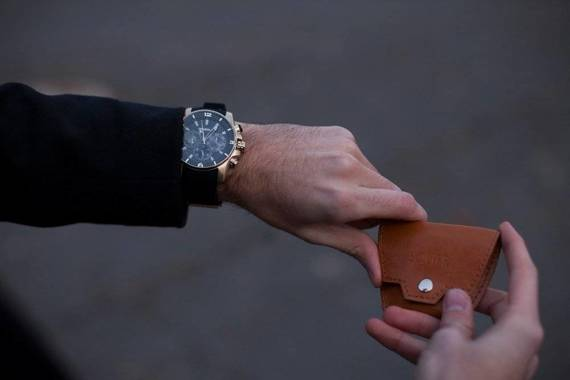 Skórzana bilonówka, portfel na monety SOLIER SA10 CAMEL