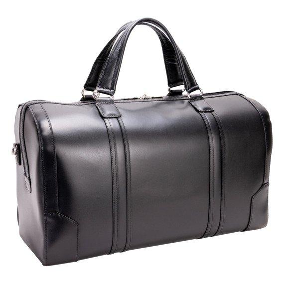 Skórzana torba podróżna Kinzie czarna