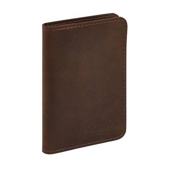 Skórzany Cienki Portfel Męski na karty Slim Wallet Sempertus PM-09/CH