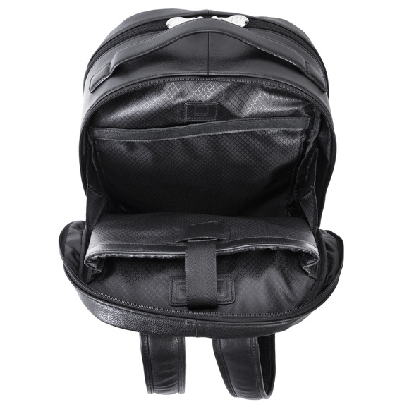 """Skórzany czarny plecak Parker ze skóry naturalnej na laptopa 15,6"""""""