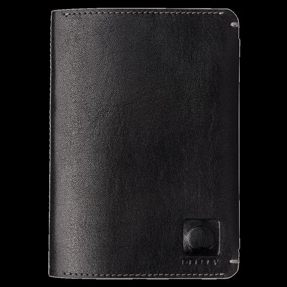 Stylowe czarne etui na paszport z kolekcji Delsey Enjoleur