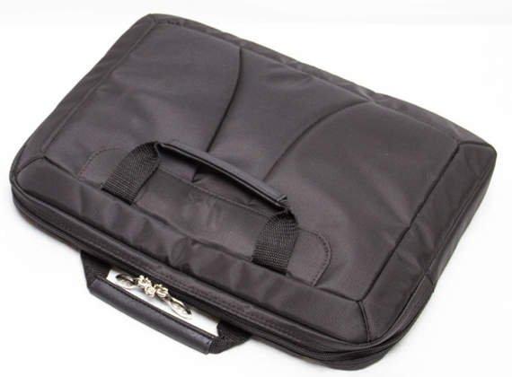 """Torba czarna na laptopa ze skóry naturalnej Rockford 17"""""""