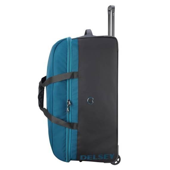 Torba podróżna na kółkach Duża Delsey Walizka EGOA 78 cm niebieska
