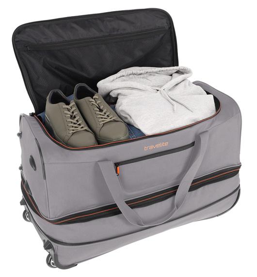 Torba podróżna poszerzana duża L Travelite Basics, 98/119 litrów, 2 kółka, poliester